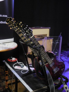 Alex's guitars for the evening (Photo: PTMQ)